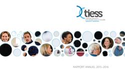 Couverture du rapport annuel 2015-2016 du TIESS